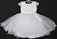 """Платье нарядное детское """"Балерина"""" с камушками 2-3 года. Белое. Купить оптом и в розницу, фото 1"""