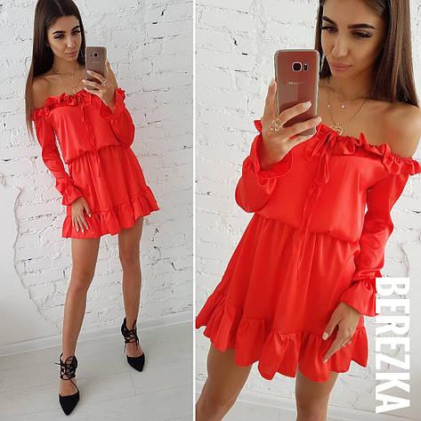 Платье шелковое красное, фото 2