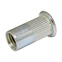 Гайка клепальная, плоская головка, рефленая М6 х 0,5-3 мм (упаковка 500 шт.)