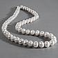 Жемчуг белый, Ø9 мм., комплект браслет и бусы, 052НЖ, фото 5