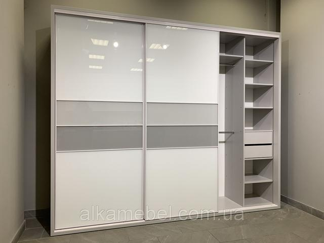 New 2019 шкаф купе в прихожую или спальню Zola с Lacobel стеклом