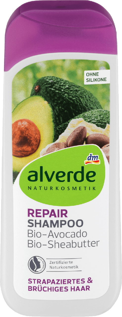 Восстанавливающий шампунь alverde NATURKOSMETIK Repair, 200 ml