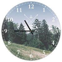 Настенные часы круглые 1965 Лес 36 см (CHR_P_TFL028)