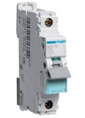 Автоматический выключатель 25 А, 1п, D, 10 kA, hager (Франция)