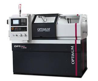 Токарный станок по металлу с ЧПУ Optimum L 34HS CNC