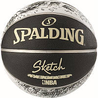 Мяч баскетбольный Spalding NBA Sketch Swoosh Outdoor Size 7