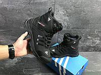 Кроссовки мужские зимние Adidas 6855 черный цвет, фото 1