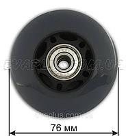 Колесо  полиуретановое 76 мм (серое), фото 1