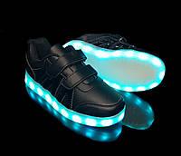 Кроссовки с LED подсветкой детские Black 1088