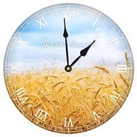 Настенные часы круглые Дихай вільно 36 см (CHR_K_UKR037)