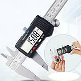 Штангенциркуль №5к цифровий 150мм 0.01 mm сталь мікрометр, фото 8