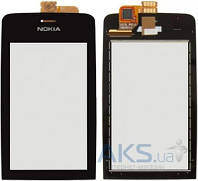 Сенсор (тачскрин) для Nokia Asha 308, Asha 309, Asha 310 Black