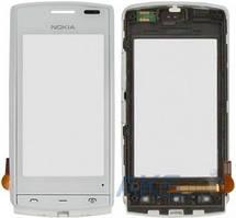 Сенсор (тачскрин) для Nokia 500 with frame Original White