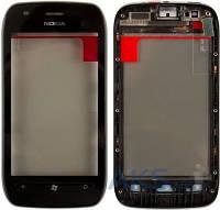 Сенсор (тачскрин) для Nokia Lumia 710 with frame Original Black