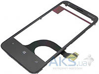 Сенсор (тачскрин) для Nokia Lumia 620 with frame Original Black
