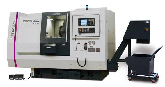 Токарный станок по металлу с ЧПУ Optimum S 500 / S 750 CNC
