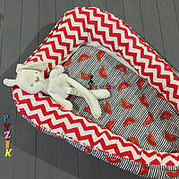 Гнездо-кокон для новорожденного 85Х40 см (подушка для беременной, подушка для кормления) Арбузики, фото 1