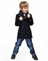 Детское пальто для мальчика №563 синий