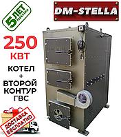 Твердотопливный котел на дровах 250 кВт DM-STELLA (двухконтурный)