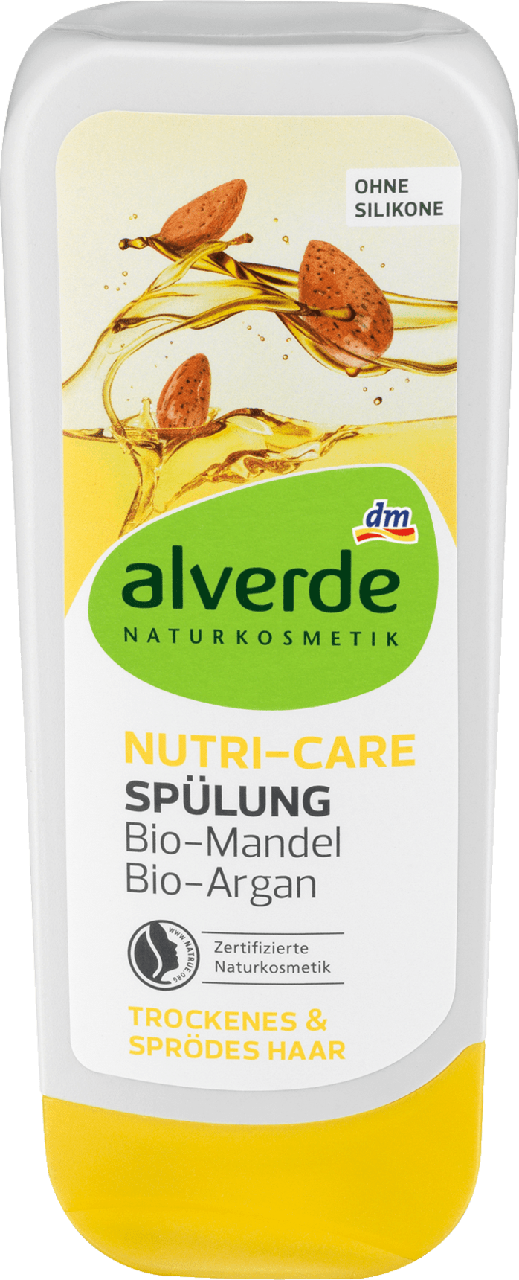 Кондиционер для поврежденных волос alverde NATURKOSMETIK Nutri-Care mit Bio - Argan & Mandelöl, 200 ml