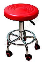 Стул для мастера маникюра (красный)