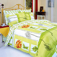 Полуторное постельное белье ТЕП Гербера помаранчевая, фото 1