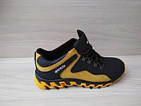 Подростковые натуральные демисезонные кроссовки Ecco (реплика), фото 1