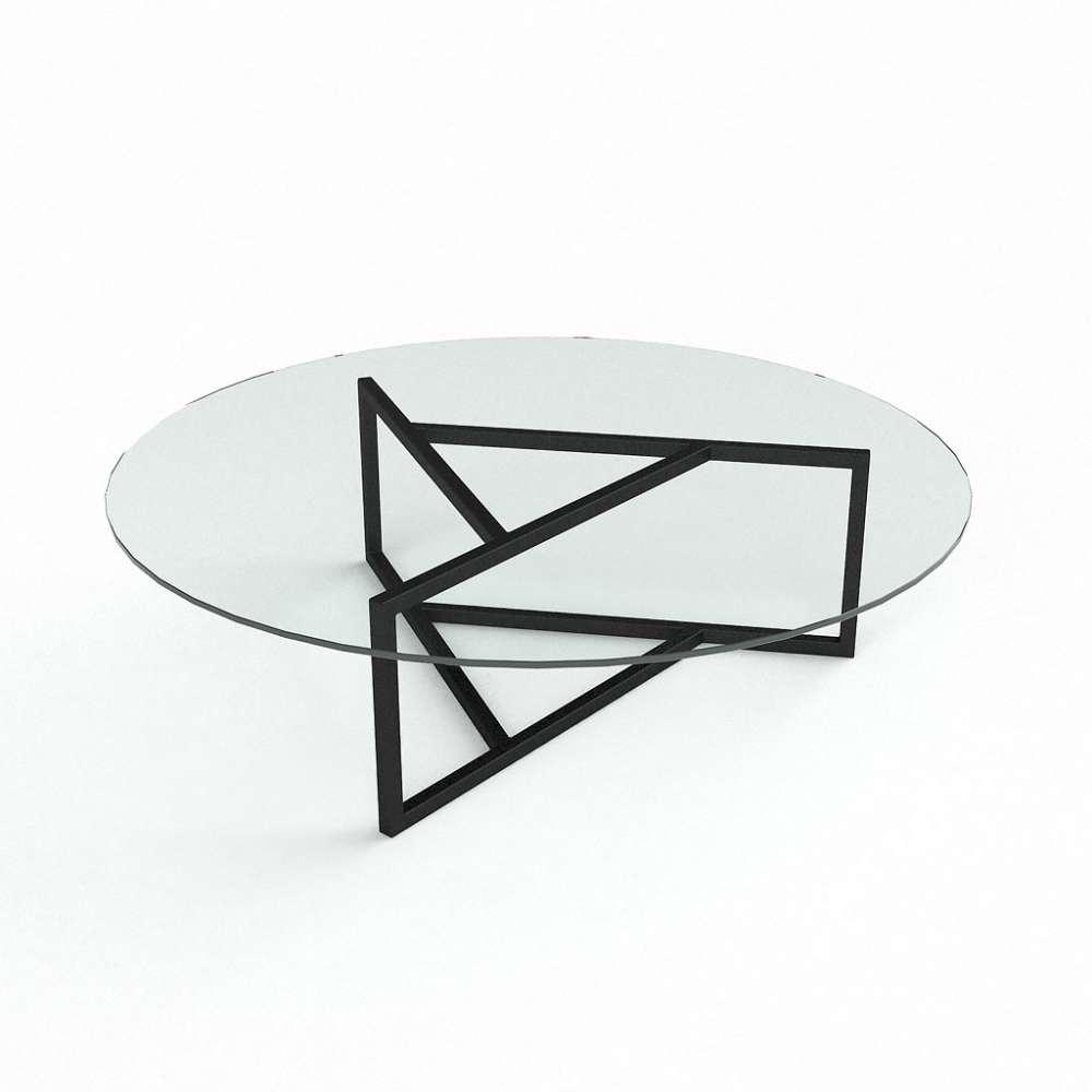Журнальний кофейний столик зі скла у вітальню Глобус БЦ-стол