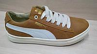 Подростковые кожаные кроссовки Puma (реплика)