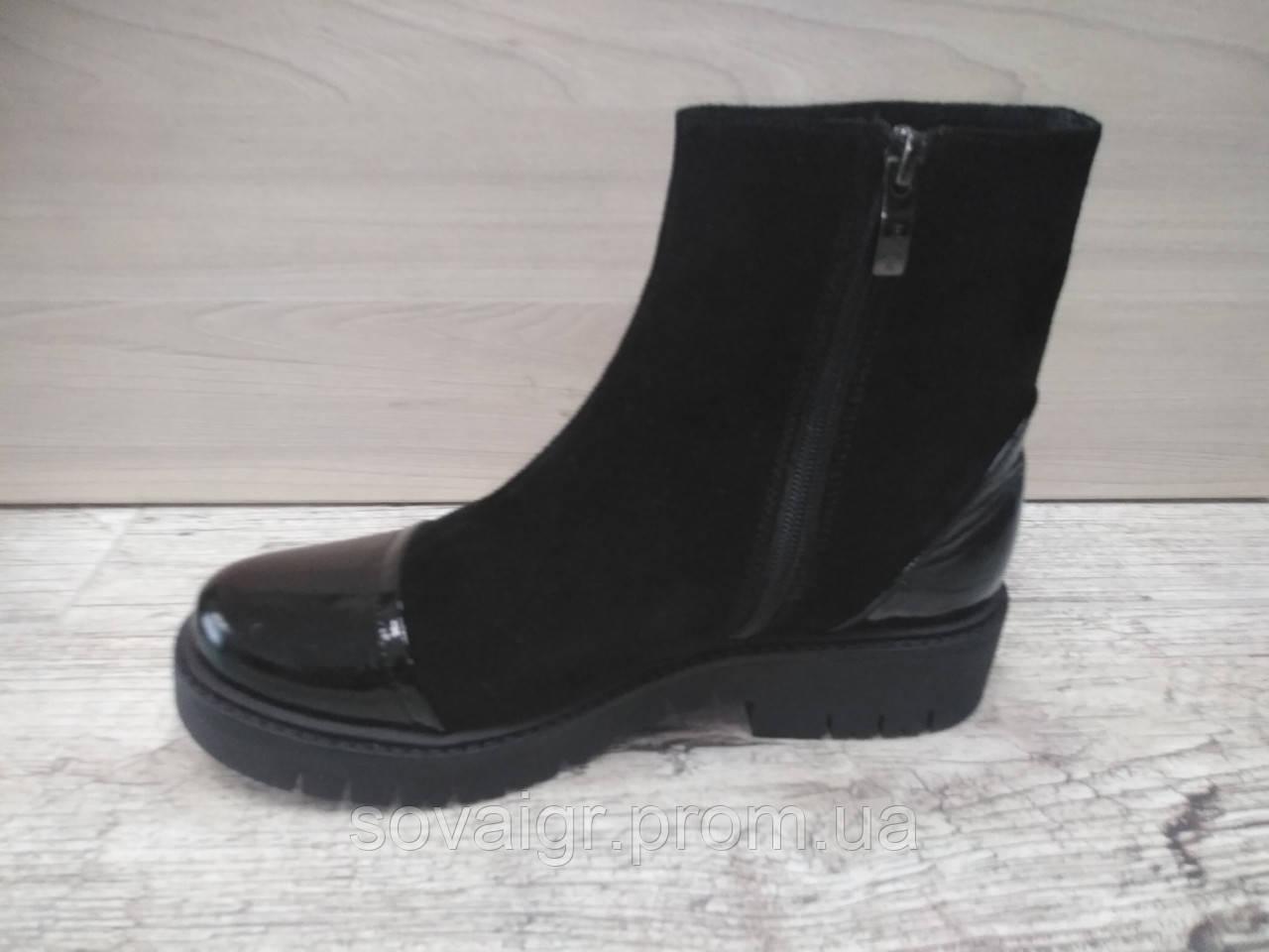 Зимние замшевые подростковые ботинки для девушек EFA