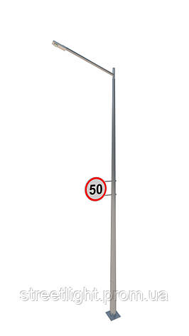 Светодиодное освещение с двусторонним дорожным знаком, фото 2