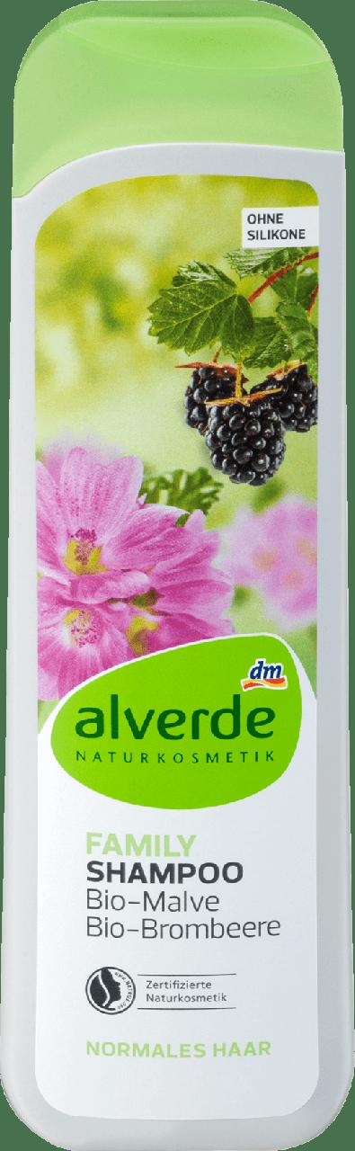 Шампунь для всей семьи alverde NATURKOSMETIK Family Bio - Malve & Brombeere, 300 ml
