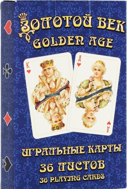 Карты игральные Золотой век (Golden Age) 1487-1612, 36 листов