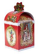 Картонная упаковка для конфет Сундук Св. Миколай, 11х11х18см
