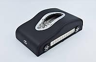 Салфетница Lexus кожаная в автомобиль с логотипом и местом для номера телефона Black Лексус подарочная салфетница