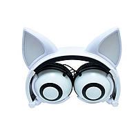 Навушники LINX Bear Ear Headphone навушники з вушками Лисички LED Білий (SUN2649)