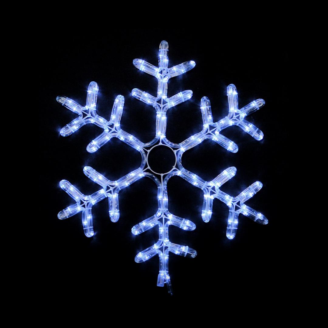 Гирлянда уличная, снежинка DELUX MOTIF Snowflake 0,55м 12 flash белый IP 44 EN
