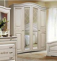 Шкаф 4-х дверный Венера СлонимМебель орех, белый