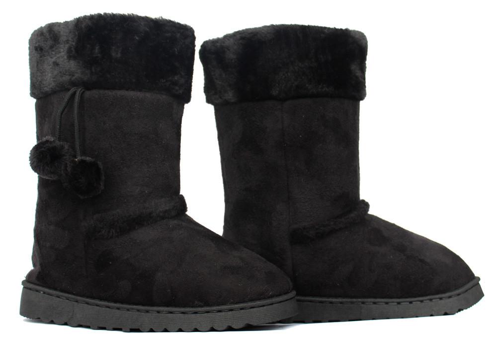 224b437f9563ce 38р Жіночі уггі чорні зимові чоботи маломірки (К-2ч): продажа, цена ...