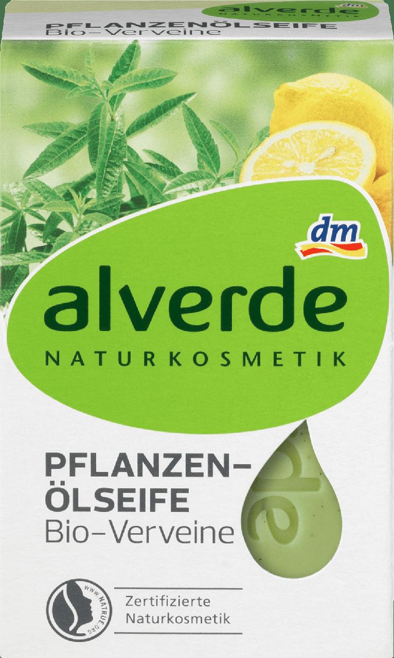 Органическое мыло alverde NATURKOSMETIK Pflanzenöl Bio-Verveine, 100 г.