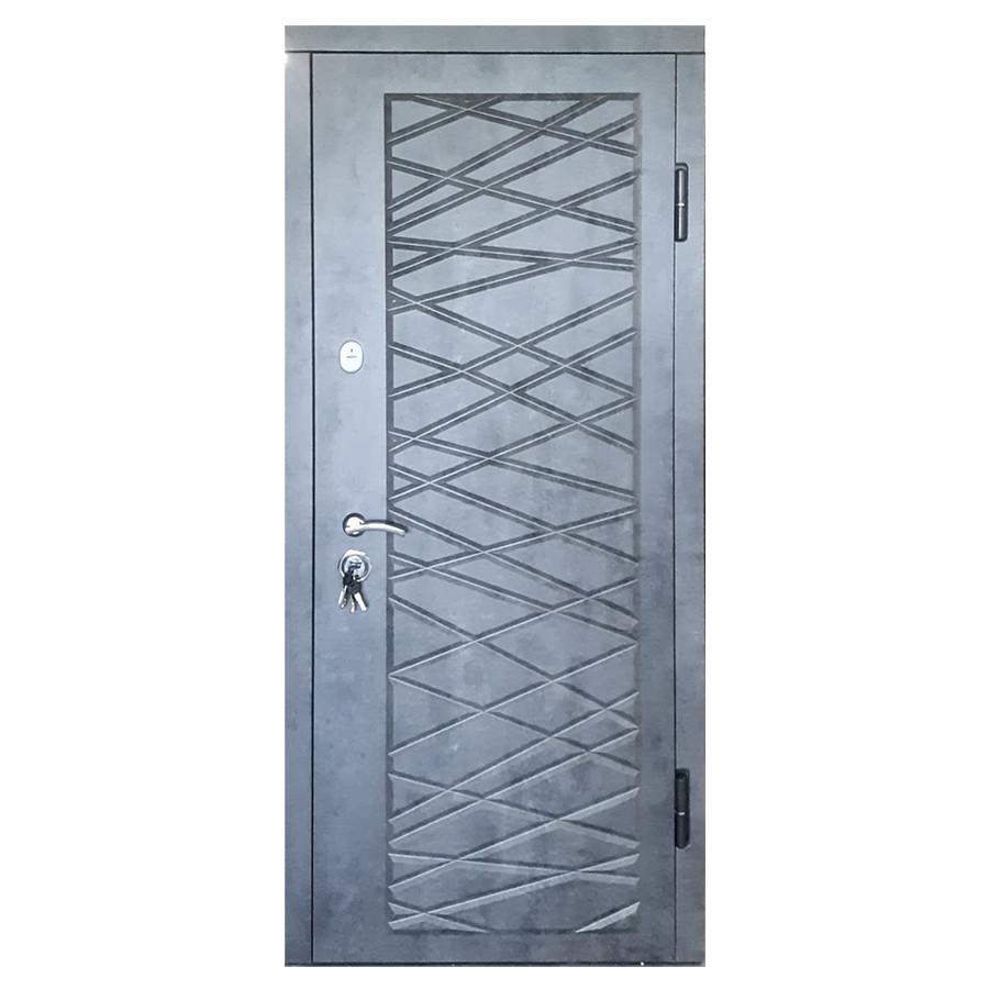 Дверь входная «Министерство дверей»— П-3К-116  Декор 4D Мрамор темный