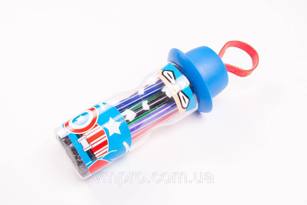 Фломастеры для рисования №989-12,12 цветов в пластиковой колбе