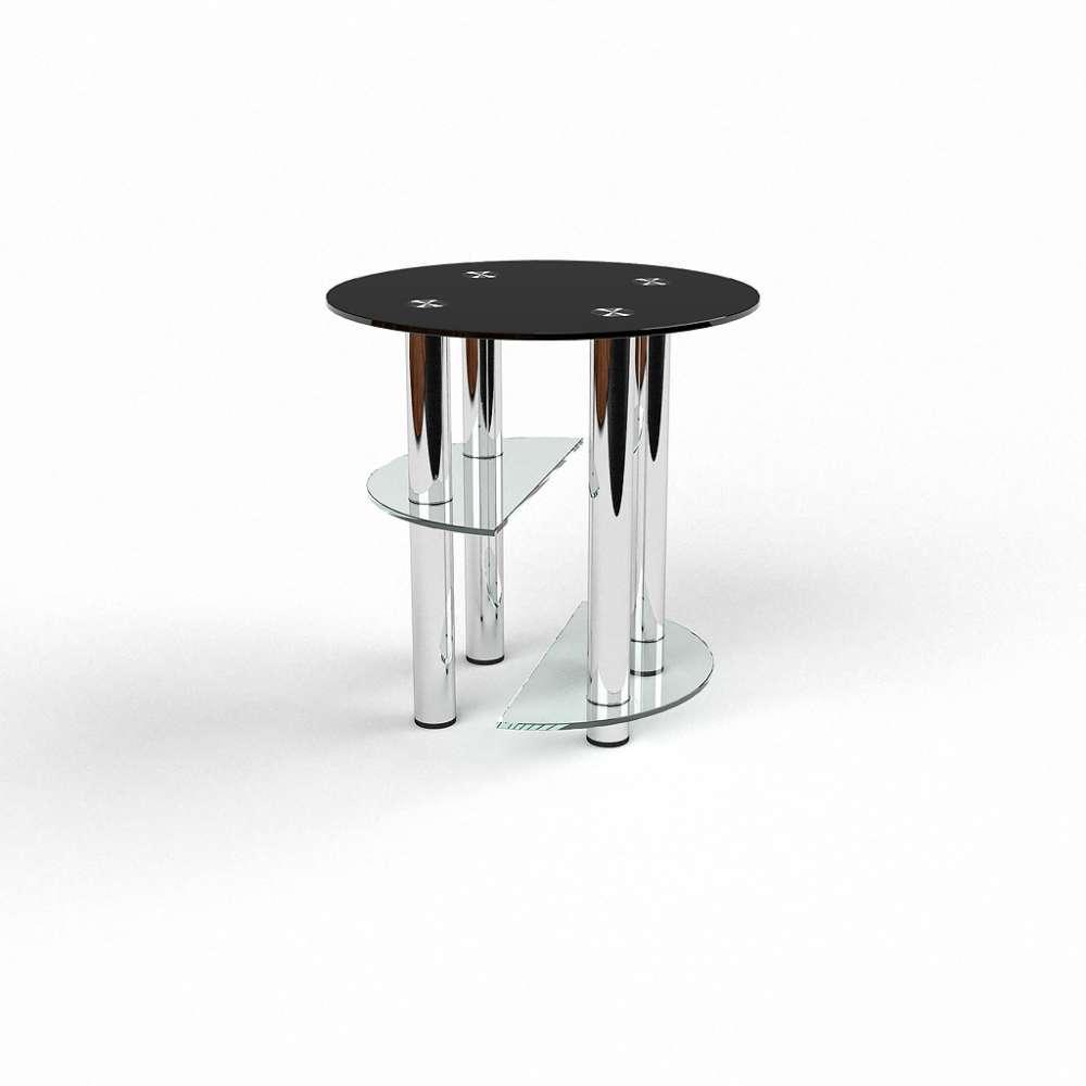Журнальний кофейний столик зі скла у вітальню Декс БЦ-стол