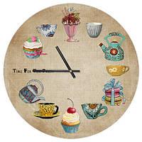Настенные часы круглые Кухня 36 см (CHR_P_15M016)