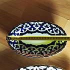 Узбецька посуд, тарілка овальна в стилі Пахта, фото 3