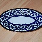 Узбецька посуд, тарілка овальна в стилі Пахта, фото 2