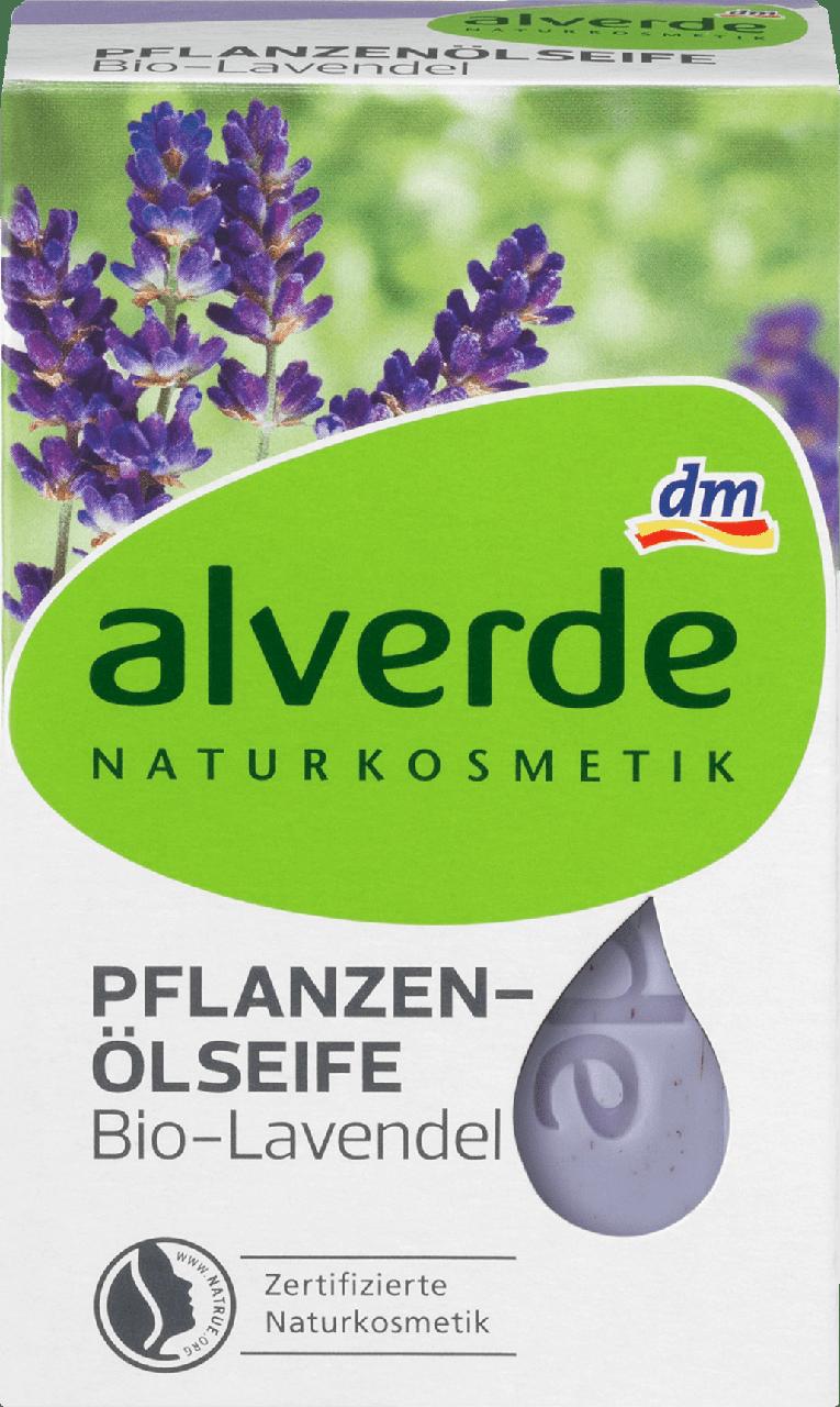 Органическое мыло alverde NATURKOSMETIK Pflanzenölseife Dio-Lavendel, 100 г.