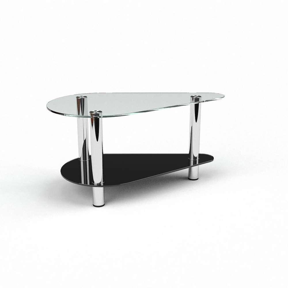 Журнальний кофейний столик зі скла у вітальню Донас БЦ-стол