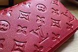 Гаманець Луї Вітон, Louis Vuitton monogram, шкіра, колір червоний, фото 6