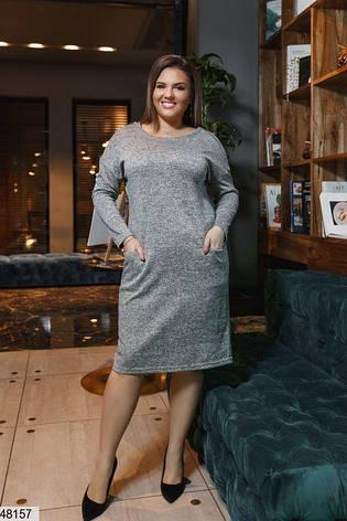 Платье женское демисезонное серое размеры: 50-62, фото 2